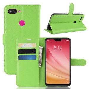 Флип чехол книжка вертикальная для Xiaomi Mi 8 Lite - Зеленый