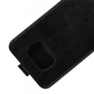 Флип чехол книжка вертикальная для Xiaomi Poco X3 NFC - Черный