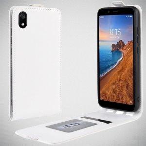 Флип чехол книжка вертикальная для Xiaomi Redmi 7A - Белый