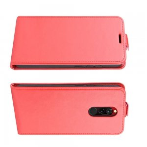 Флип чехол книжка вертикальная для Xiaomi Redmi 8 - Красный