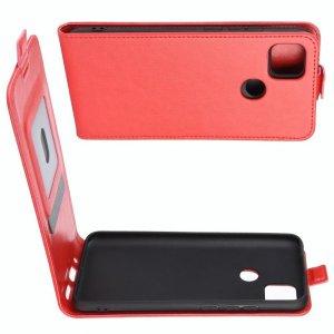 Флип чехол книжка вертикальная для Xiaomi Redmi 9C - Красный