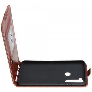 Флип чехол книжка вертикальная для Xiaomi Redmi Note 8T - Коричневый