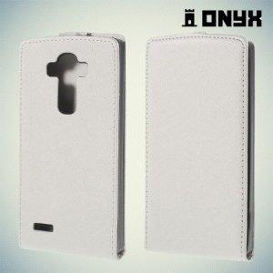 Флип чехол книжка для LG G4 - белый
