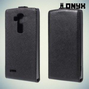 Флип чехол книжка для LG G4 - черный
