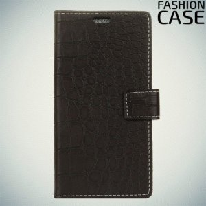 Flip Wallet чехол книжка для Alcatel 3X - Черный