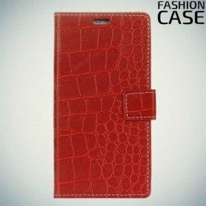 Flip Wallet чехол книжка для Alcatel 3X - Красный