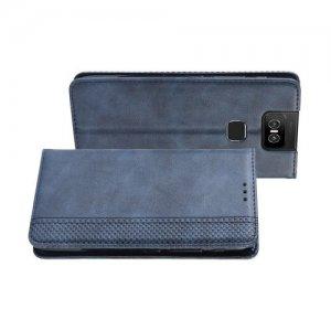 Flip Wallet чехол книжка для Asus Zenfone 6 ZS630KL - Синий