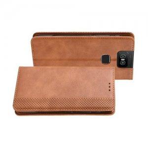 Flip Wallet чехол книжка для Asus Zenfone 6 ZS630KL - Коричневый