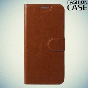 Flip Wallet чехол книжка для ASUS ZenFone Max Pro M1 ZB601KL / ZB602KL - Коричневый
