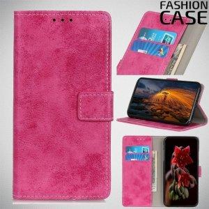 Flip Wallet чехол книжка для HTC Desire 19 Plus - Розовый