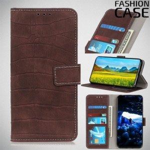 Flip Wallet чехол книжка для Huawei Honor 20 Pro - Коричневый