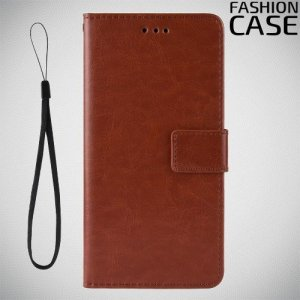 Flip Wallet чехол книжка для Huawei Honor 8A Pro - Коричневый