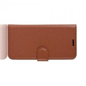 Flip Wallet чехол книжка для Huawei Honor 8X - Коричневый