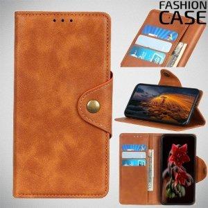 Flip Wallet чехол книжка для Huawei P Smart Z - Коричневый