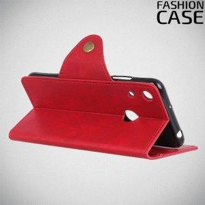 Flip Wallet чехол книжка для Huawei Y6 2019 / Y6s - Красный