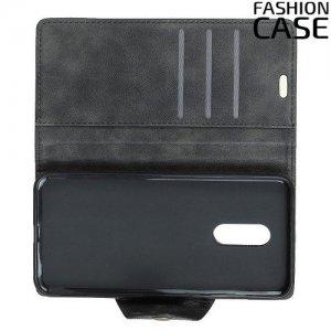 Flip Wallet чехол книжка для LG Q7 / Q7+ / Q7α - Черный