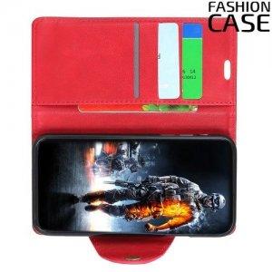 Flip Wallet чехол книжка для LG Q7 / Q7+ / Q7α - Красный