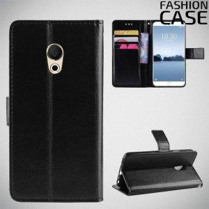 Flip Wallet чехол книжка для Meizu 15 Lite - Черный