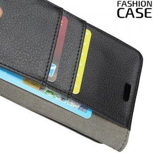 Flip Wallet чехол книжка для Motorola Moto G7 Play - Черный