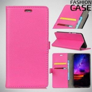 Flip Wallet чехол книжка для Motorola Moto G7 Play - Розовый