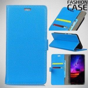 Flip Wallet чехол книжка для Motorola Moto G7 Play - Голубой