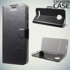 Flip Wallet чехол книжка для Motorola Moto Z3 Play - Черный