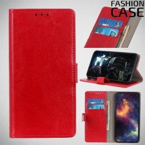 Flip Wallet чехол книжка для Nokia 1 Plus - Красный