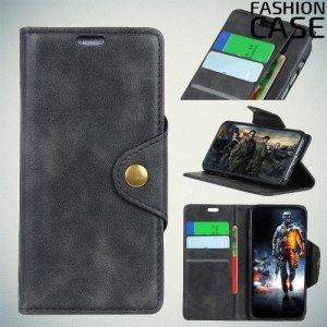 Flip Wallet чехол книжка для Nokia 5.1 Plus - Черный