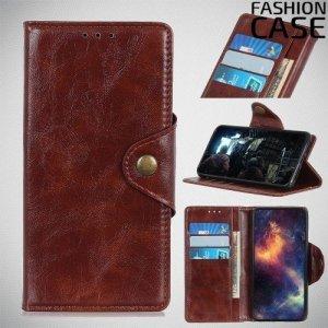Flip Wallet чехол книжка для Samsung Galaxy A30 / A20 - Коричневый