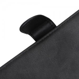 Flip Wallet с подставкой магнитной застёжкой и визитницей чехол книжка для Samsung  Galaxy A40 - Черный