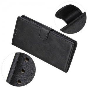 Flip Wallet с подставкой магнитной застёжкой и визитницей чехол книжка для Samsung Galaxy A50 / A30s - Черный