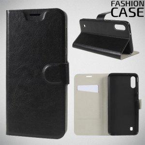 Flip Wallet чехол книжка для Samsung Galaxy M10 - Черный