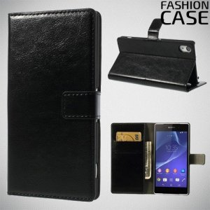 Flip Wallet чехол книжка для Sony Xperia Z2 - Черный