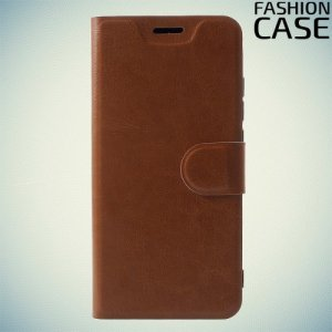 Flip Wallet чехол книжка для Xiaomi Redmi 6 Pro / Mi A2 Lite - Коричневый