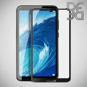 Full Glue Screen DF Защитное Закаленное Олеофобное Стекло для Huawei Honor 8A / Y6 2019 черное