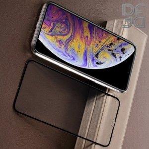 Full Glue Screen DF Защитное 3D Закаленное Олеофобное Стекло для iPhone XR / iPhone 11 черное