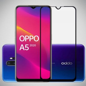 Full Glue Screen DF Защитное Закаленное Олеофобное Стекло для Oppo A5 (2020) / Oppo A9 (2020) черное