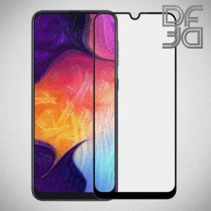 Full Glue Screen DF Защитное Закаленное Олеофобное Стекло для Samsung Galaxy A30 / A20 / A50 черное