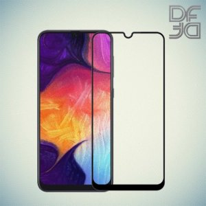 Full Glue Screen DF Защитное Закаленное Олеофобное Стекло для Samsung Galaxy A70 черное