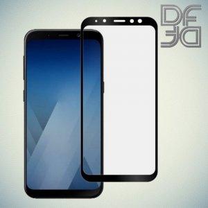 Full Glue Screen DF Защитное Закаленное Олеофобное Стекло для Samsung Galaxy A8 2018 черное
