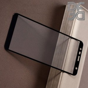 Full Glue Screen DF Защитное Закаленное Олеофобное Стекло для Samsung Galaxy J6 Plus / J4 Plus черное