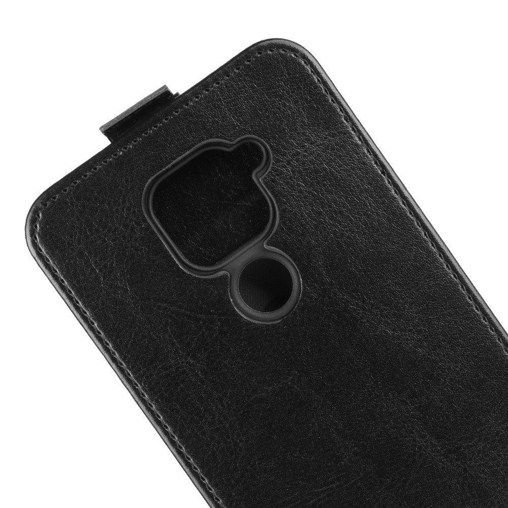 Флип чехол книжка вертикальная для Xiaomi Redmi Note 9 - Черный цвет