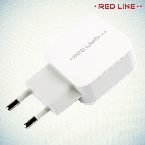 Адаптивная быстрая зарядка 2 USB порта 2.4А Red Line Superior