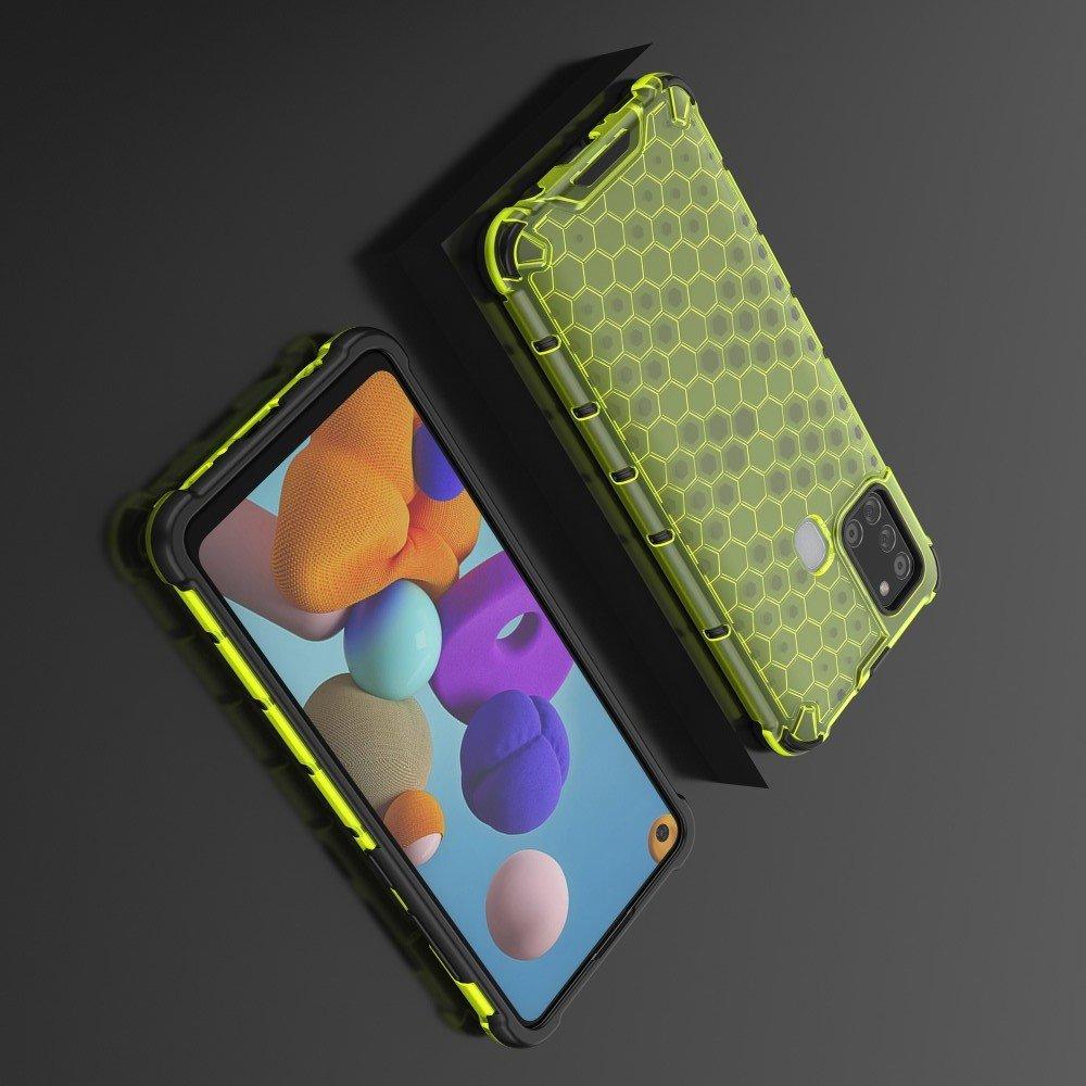 AirBags Case противоударный силиконовый чехол с усиленной защитой для Samsung Galaxy A21s Зеленый