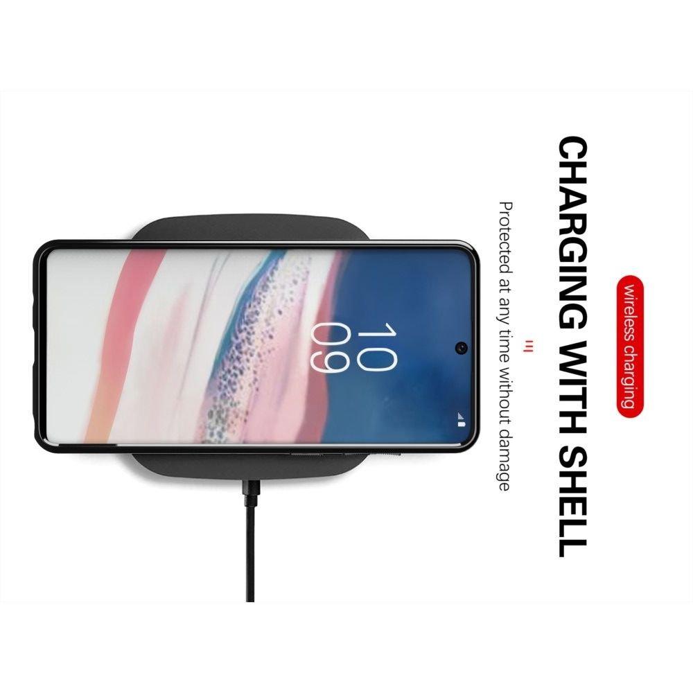 AirBags Case противоударный силиконовый чехол с усиленной защитой для Samsung Galaxy Note 10 Lite Синий