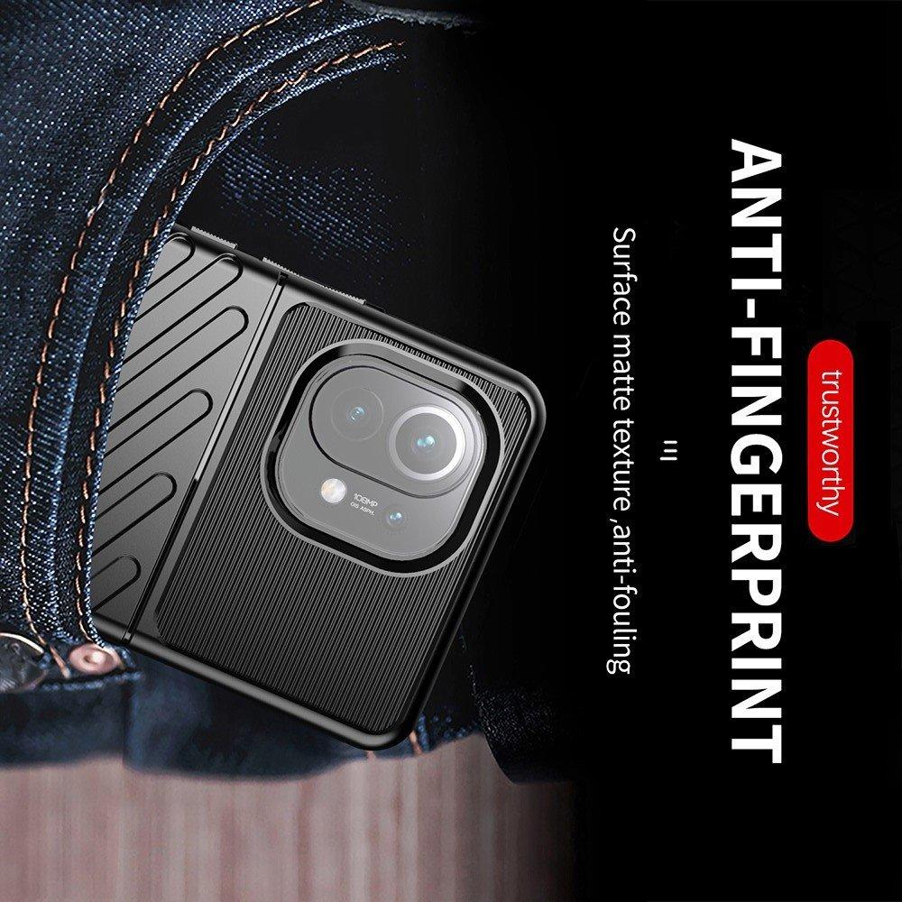 AirBags Case противоударный силиконовый чехол с усиленной защитой для Xiaomi Mi 11 Черный