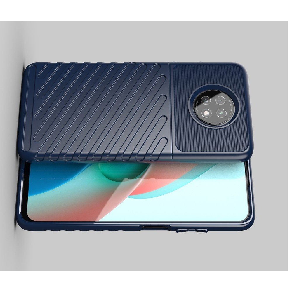 AirBags Case противоударный силиконовый чехол с усиленной защитой для Xiaomi Redmi Note 9T Черный