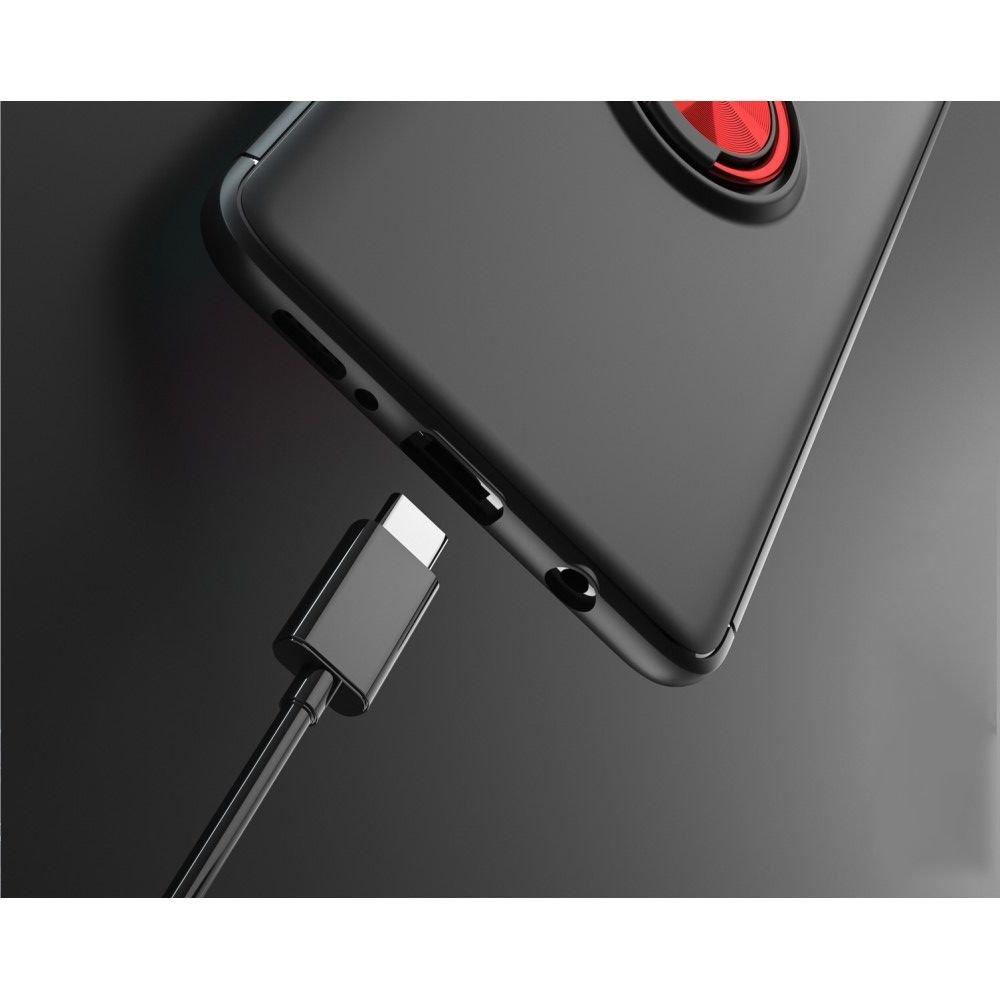 ArmaRing Двухкомпонентный чехол для Samsung Galaxy A51 с кольцом для магнитного автомобильного держателя - Синий / Черный