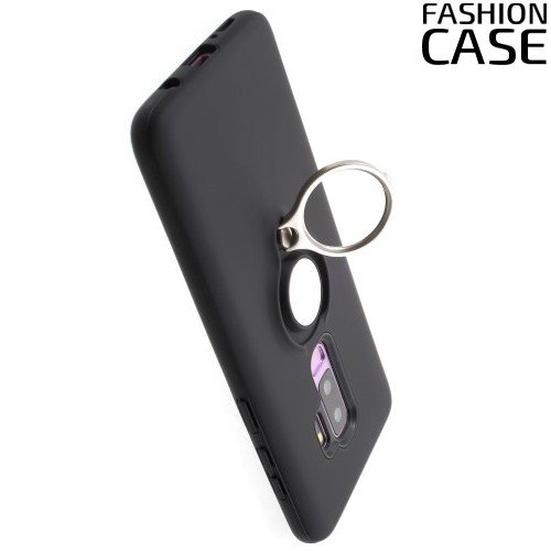 ArmaRing Двухкомпонентный чехол для Samsung Galaxy S9 Plus с кольцом для магнитного автомобильного держателя - Черный