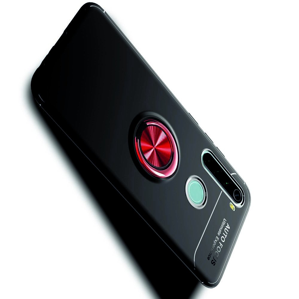 ArmaRing Двухкомпонентный чехол для Xiaomi Redmi Note 8 с кольцом для магнитного автомобильного держателя - Красный / Черный